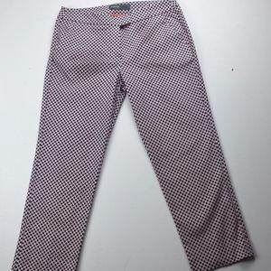 Donna Ricco New York Geometric Stretch Ankle Pants
